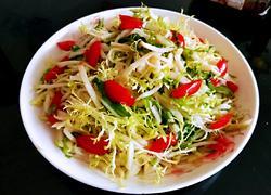 苦菊拌苤蓝(减脂菜)