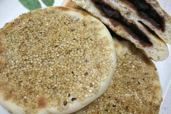 豆沙发面饼
