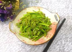蒜苗炒蚕豆