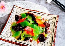 黑木耳胡萝卜炒莴笋