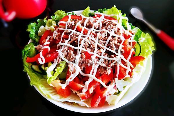 金枪鱼蔬菜沙拉#夏日减脂轻食菜#