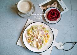 蔬菜鸡蛋火腿片沙拉