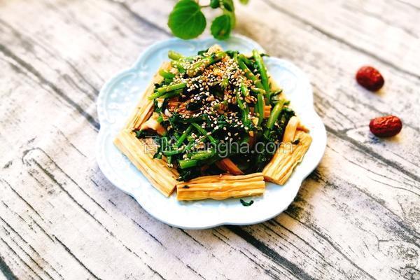 腐竹拌茼蒿
