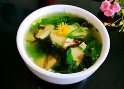 龙须菜豆腐汤