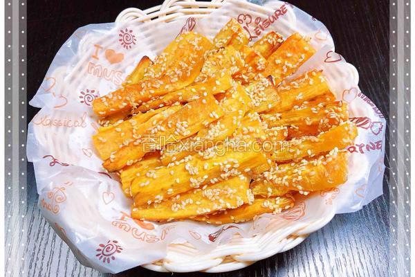 香烤芝麻红薯条