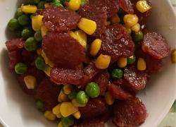 腊肠玉米豇豆