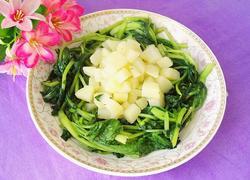 土豆炒菜心