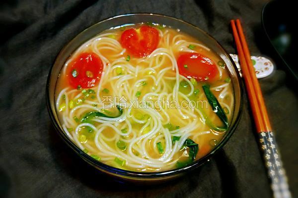 清汤挂面#跑马标准早餐#