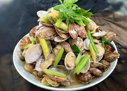 蛤蜊炒芹菜