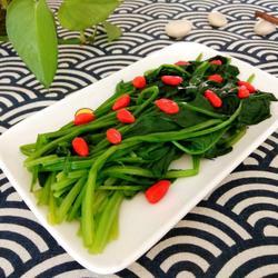 枸杞菠菜的做法[圖]
