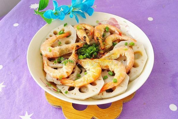 蒜香莲藕虾