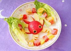 创意螃蟹水果蔬菜沙拉