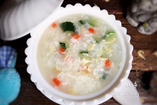黄瓜虾米粥