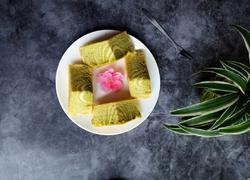 菠菜斑马纹酸奶蛋糕