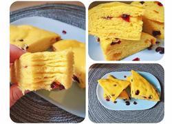 新手零失败超好吃的蔓越莓南瓜千层糕