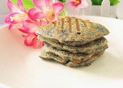 黑芝麻米饭煎饼