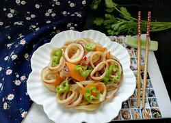 青椒洋葱炒鱿鱼圈
