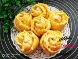黄玫瑰花红薯花卷的做法[图]