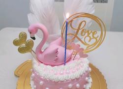 火烈鸟生日蛋糕粉色少女心