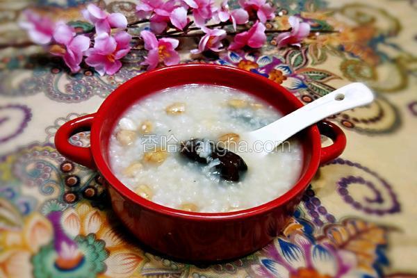 红枣花生米粥