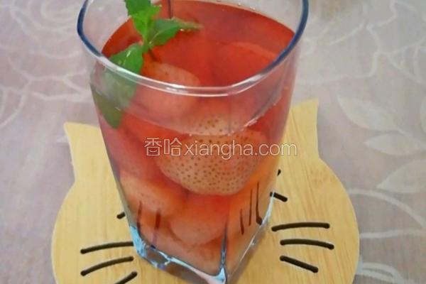 草莓冰糖水