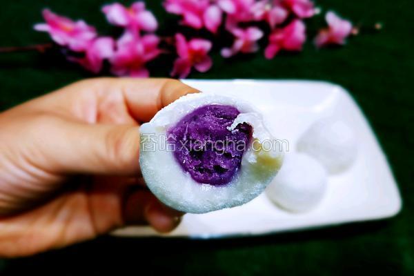 麻薯(紫薯馅)#夏季爽口甜品