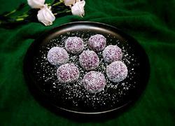 紫薯糯米椰丝球