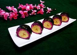 红龙果香蕉寿司