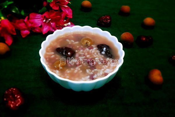 红枣桂圆红豆粥