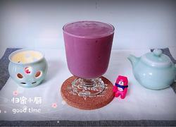 玫瑰紫薯牛奶冰沙