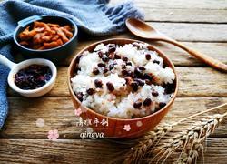 蒸红豆糯米饭