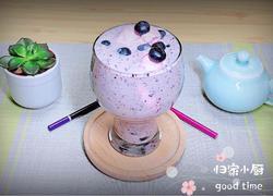 蓝莓冰淇淋奶昔 养颜抗衰老