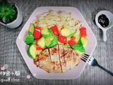 照烧鸡胸蔬菜酿皮的做法[图]
