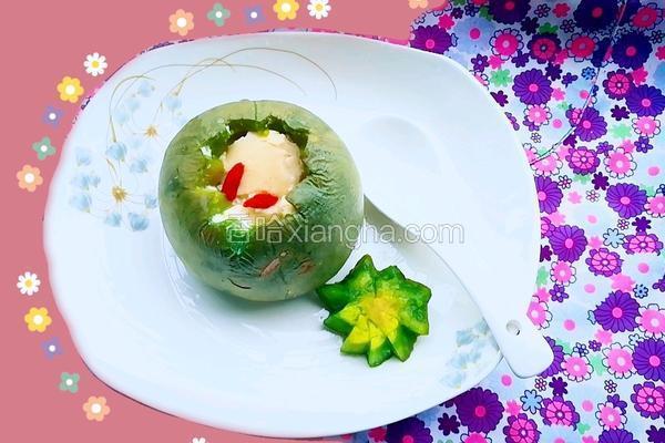 绿宝瓜蒸蛋