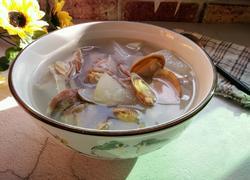冬瓜花蛤肉片汤