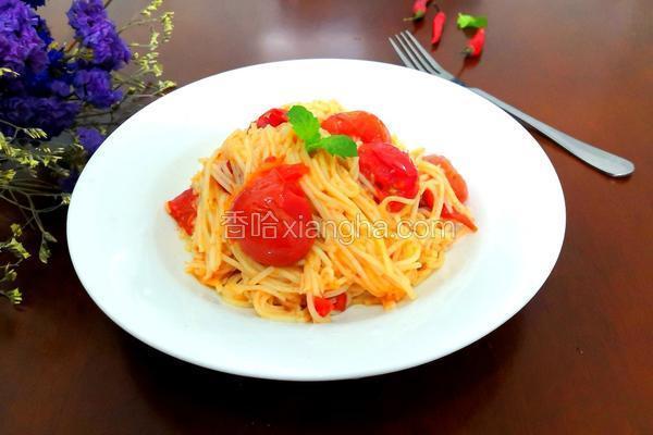 小番茄炒面