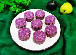 紫薯豆沙糯米饼