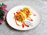 丝瓜西红柿蛋卷的做法[图]