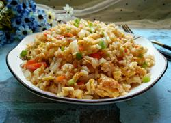胡萝卜白菜蛋炒饭
