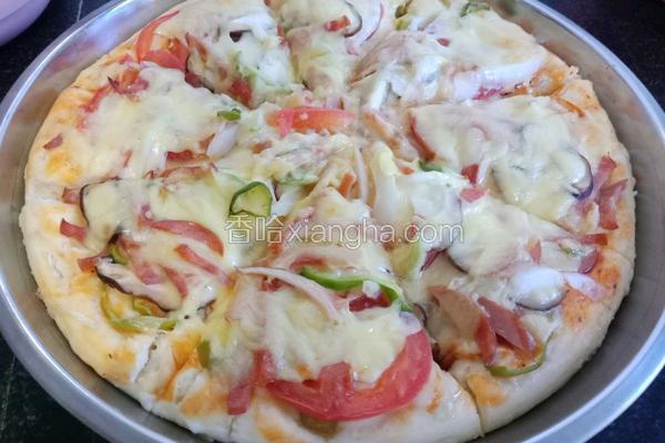 火腿蔬菜披萨