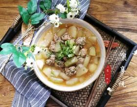 冬瓜香菜肉丸汤[图]