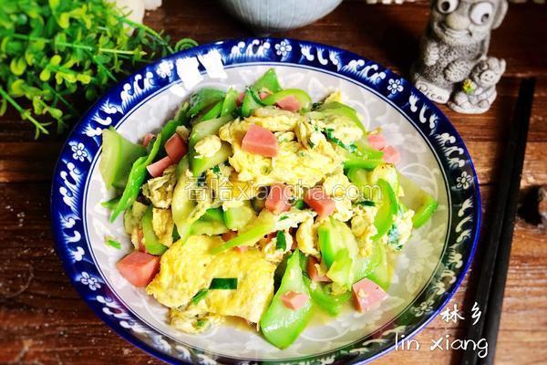 火腿丝瓜炒鸡蛋