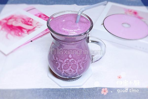 紫薯红豆奶昔   减脂解毒