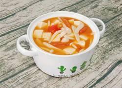 番茄白玉菇炖豆腐