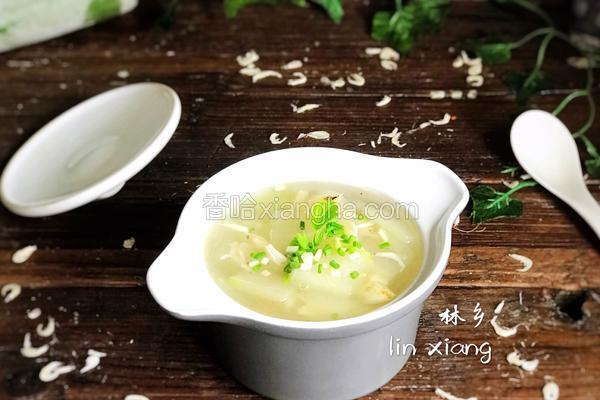 百合虾皮冬瓜汤