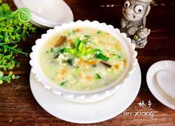 皮蛋蔬菜小米粥
