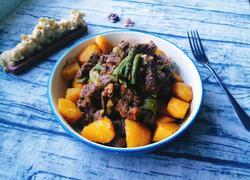 土豆豆角炖牛肉
