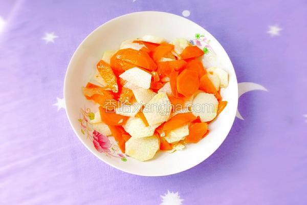 胡萝卜炒山药