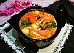 韩国泡菜芝士火锅