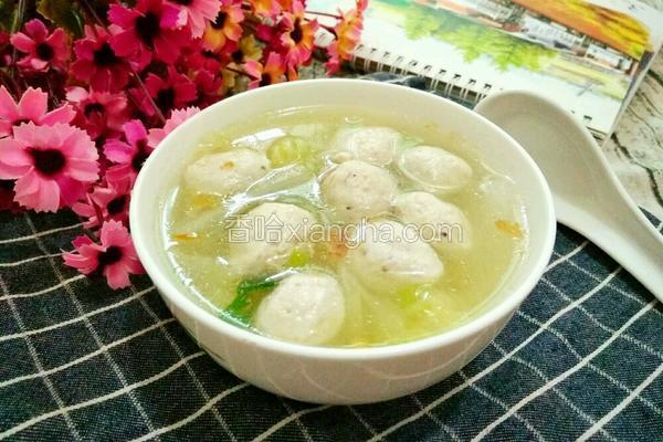 白菜肉丸子汤
